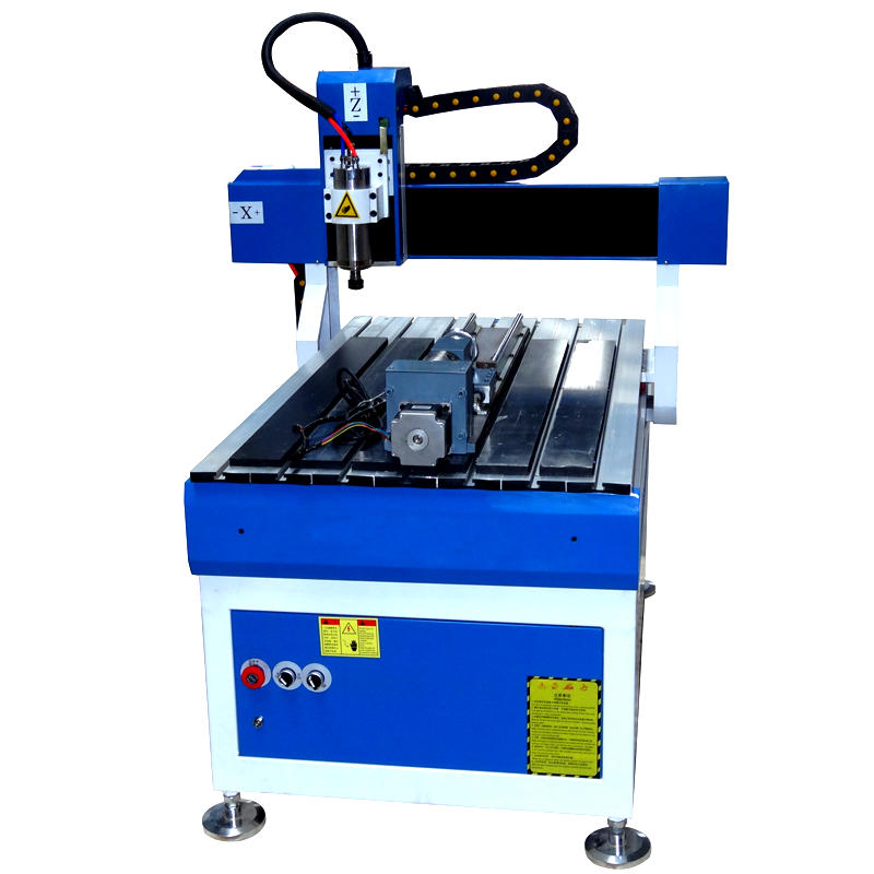 Small Desktop 4 Axis 600*900mm CNC Router With Stainless Steel Water Slot Cooling