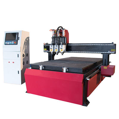 3 Spindle Furniture Wood Relief CNC Machine CNC Router-LZ-1325-3S