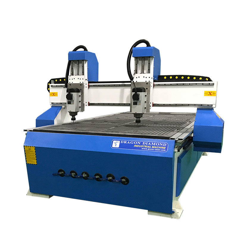 Double Independent Head Cnc Wood Router With 1300*2500mm Working Area