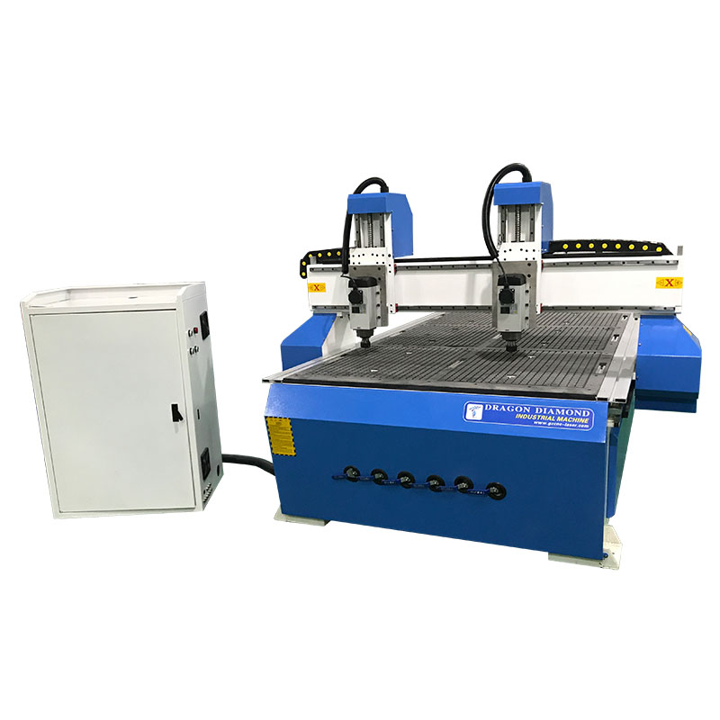 Dragon Diamond Double Independent Head Cnc Wood Router With 1300*2500mm Working Area Woodworking CNC Router image9