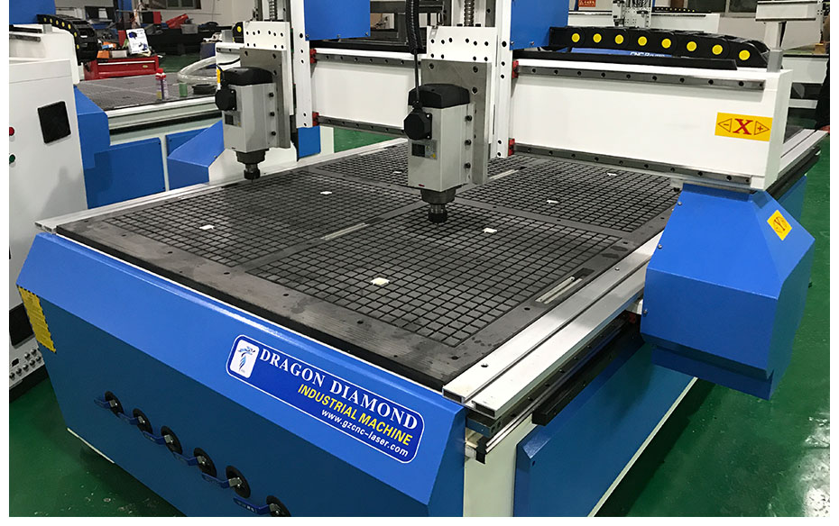 cnc router with double head