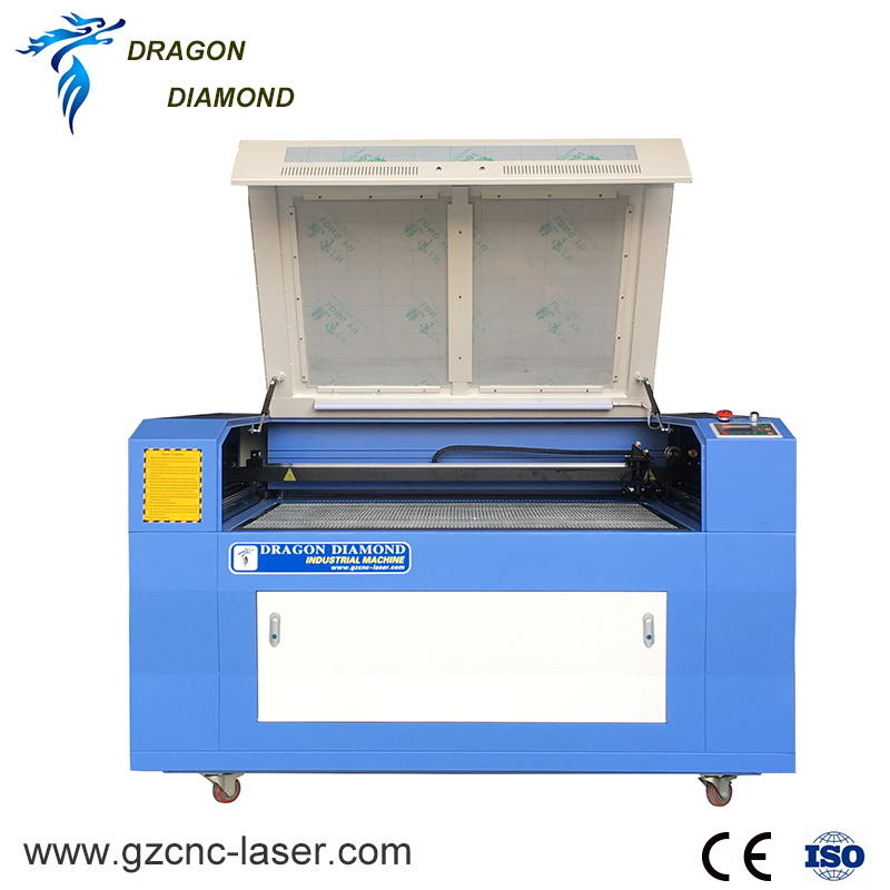 Non Metal Co2 Laser Engraving And Cutting Machine Working On Leather,Acrylic,Wood Video