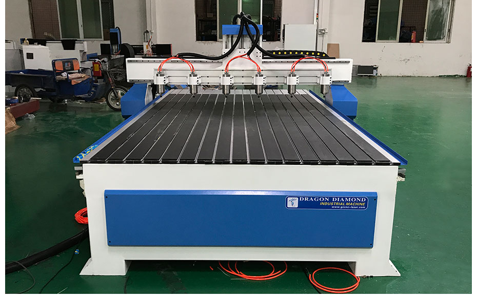 6 spindle CNC Router