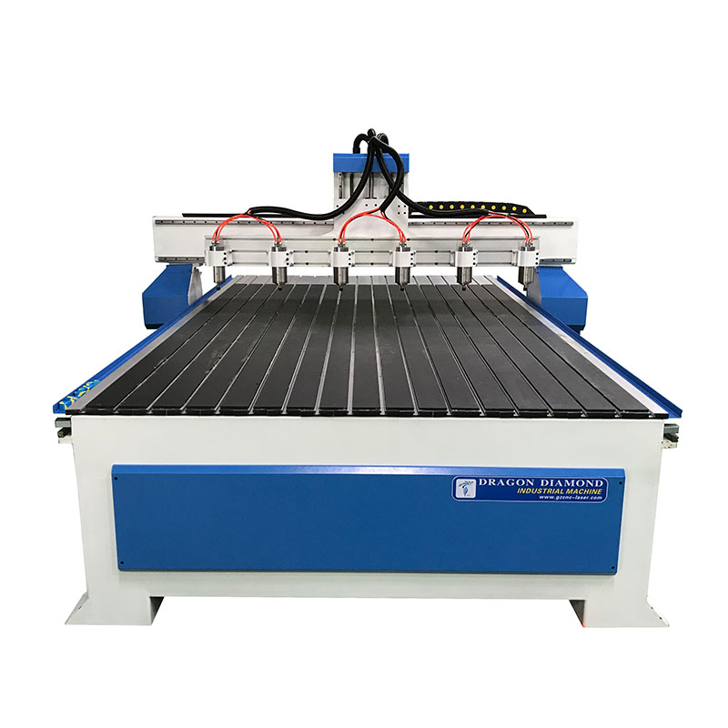 Dragon Diamond High Effective Multi Head 6 Spindle Wood Cnc Router For Door Pattern Woodworking CNC Router image7