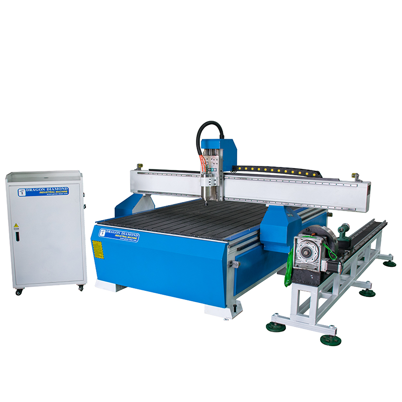Dragon Diamond 4th Axis 3D Woodworking MDF PVC Acrylic CNC Router 1325 With Independent Rotary Device Woodworking CNC Router image2