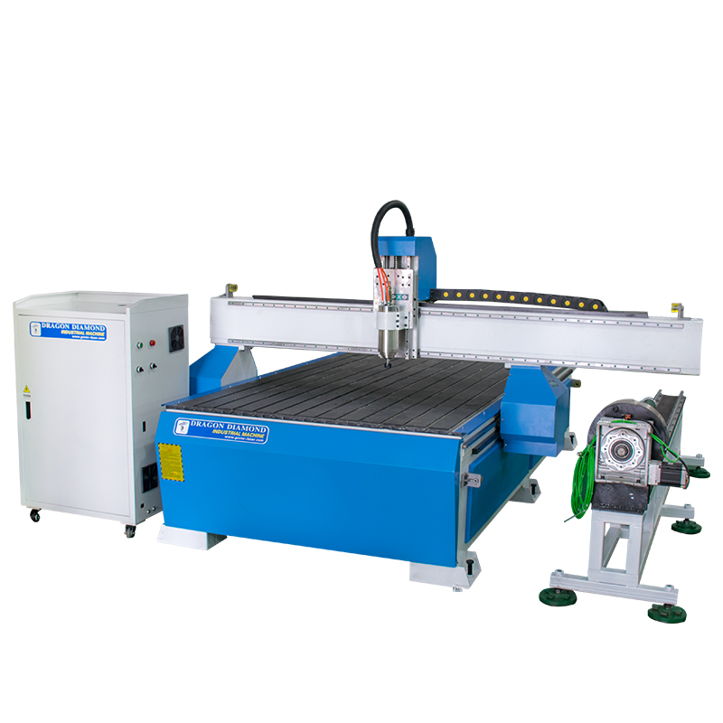 Dragon Diamond 4th Axis 3D Woodworking MDF PVC Acrylic CNC Router 1325 With Independent Rotary Device Woodworking CNC Router image3