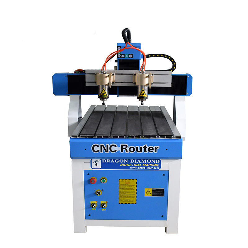 6090 Double 1.5kw Spindle Motor CNC Wood Router With NC Studio Control System