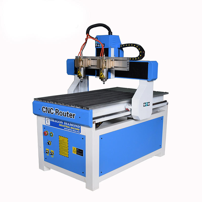 Small Double Head  Advertising CNC Router With 600*900mm - CNC 6090(Double head)