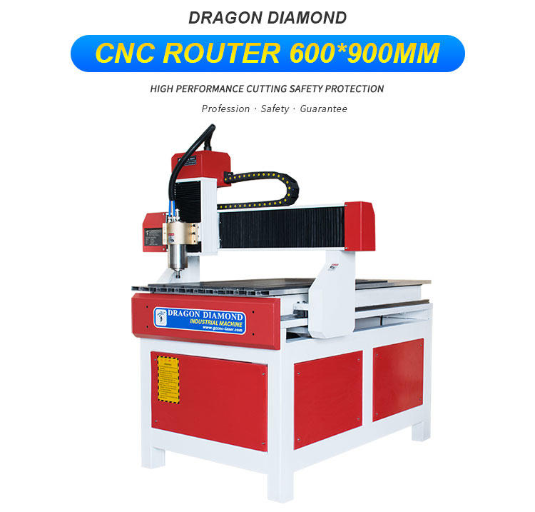 Small and Advertising CNC Router With 600*900mm - CNC 6090A(Red and white)-1