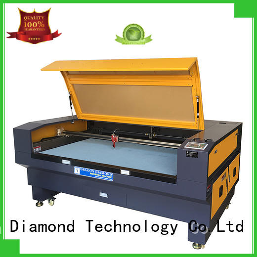 50HZ leather machine laser cloth cutting machine double Dragon Diamond